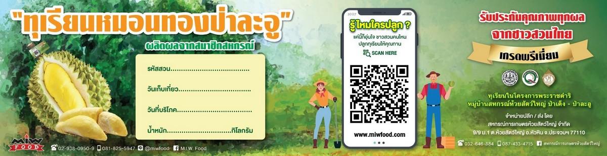 Miw 011 - เปิดจองทุเรียนป่าละอู กิโลกรัมละ 300 บาท ส่ง EMS ฟรีทั่วประเทศ